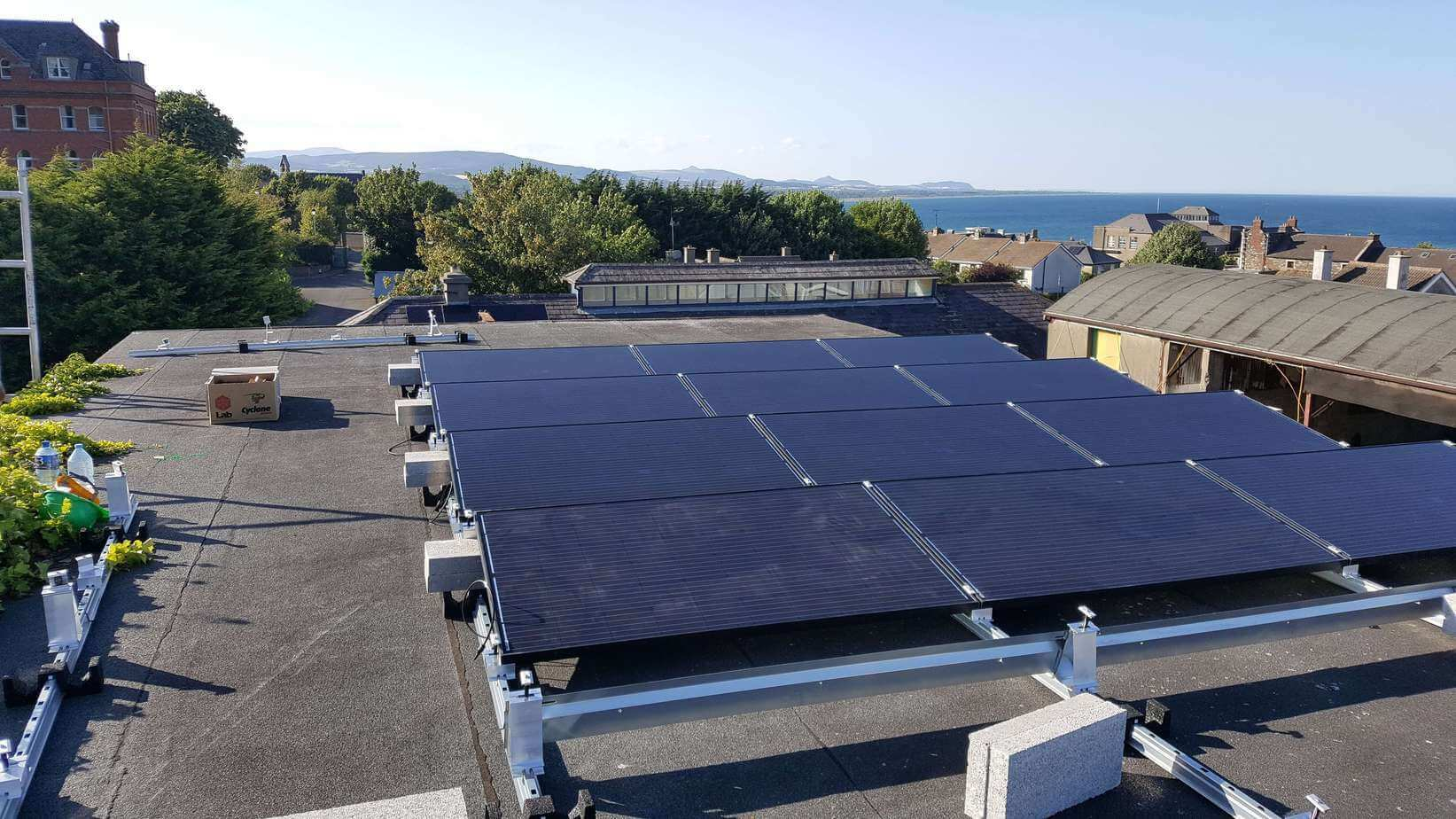 11kWP Flat Roof Solar PV Array for Ecology Centre Wicklow