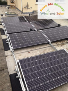 7PV Flat Roof installation with Solax Inverter and SEAI Grant Aid in Dunlaoighaire