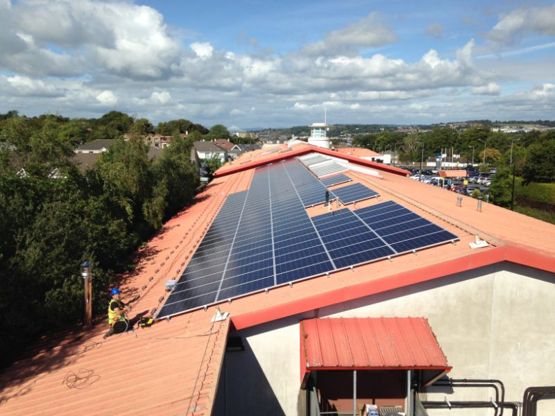 Commercial Solar PV Installation on factory rooftop